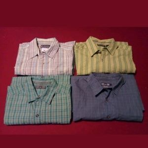 REI & Columbia Short Sleeve Casual Button Front x4